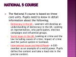 national 5 course2