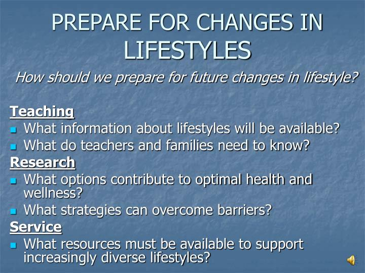 PREPARE FOR CHANGES IN