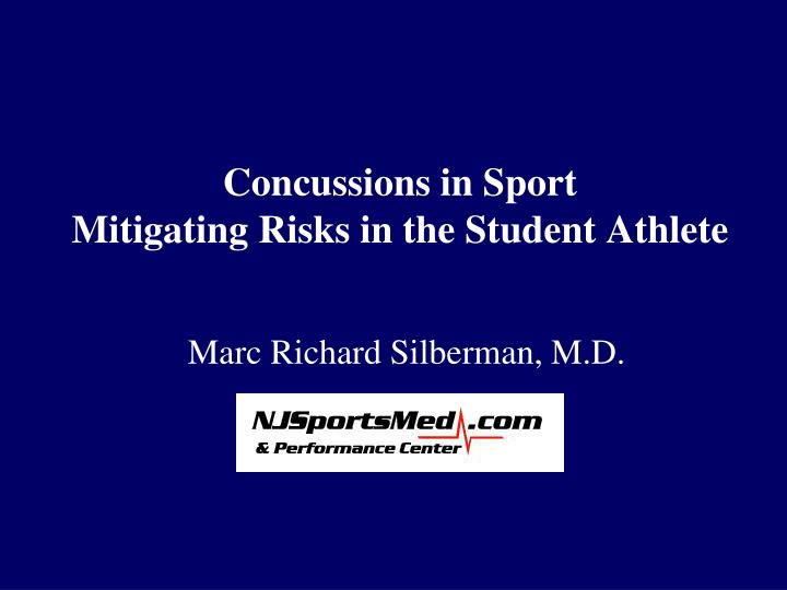 concussions in sport mitigating risks in the student athlete n.