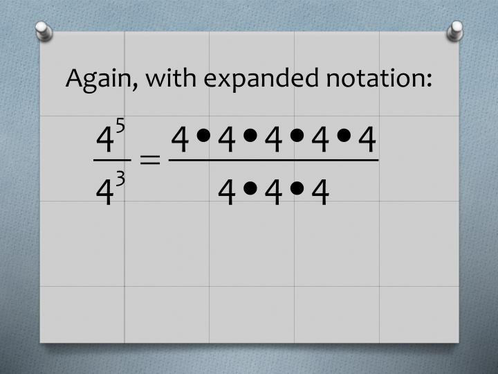 Again, with expanded notation: