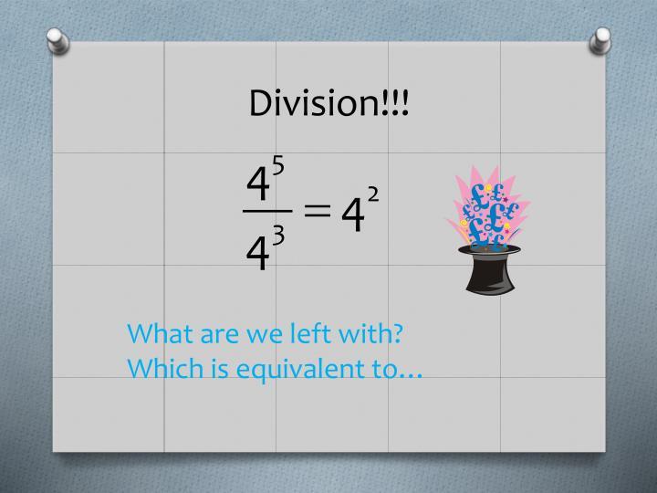 Division!!!