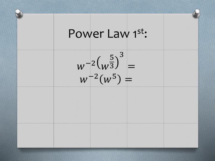 Power Law 1