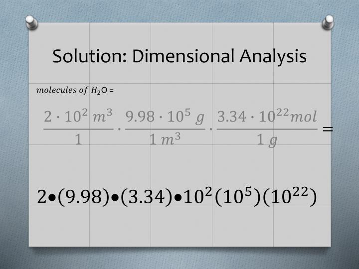 Solution: Dimensional Analysis