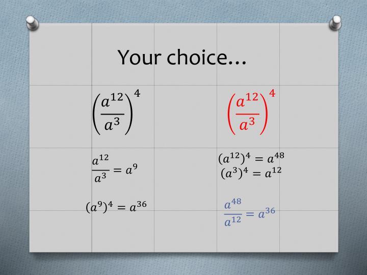 Your choice…
