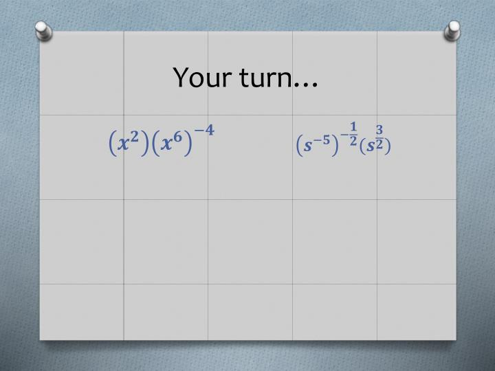 Your turn…
