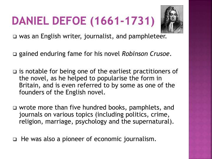 DANIEL DEFOE (1661-1731)