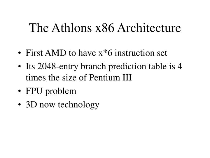 the athlons x86 architecture n.