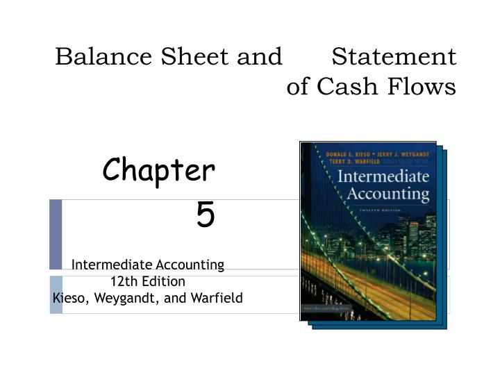 balance sheet and statement of cash flows n.
