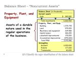balance sheet noncurrent assets5