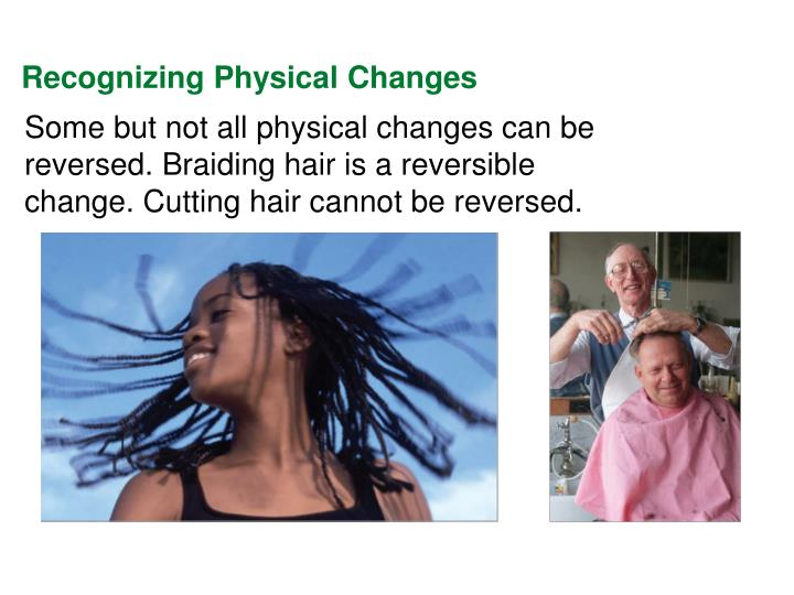 Recognizing Physical Changes