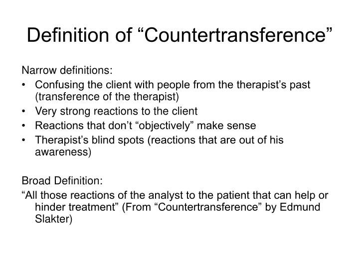 Ppt How Countertransference Can Help Us In Our Work Powerpoint