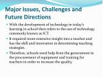 major issues challenges and future directions