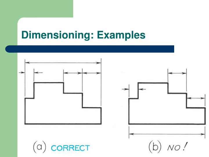 ppt standard practice for dimensioning drawings powerpoint
