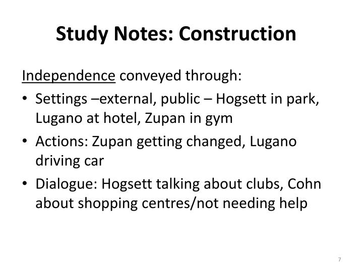 Study Notes: Construction