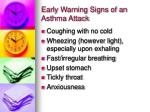 early warning signs of an asthma attack