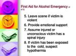 first aid for alcohol emergency 2 of 2