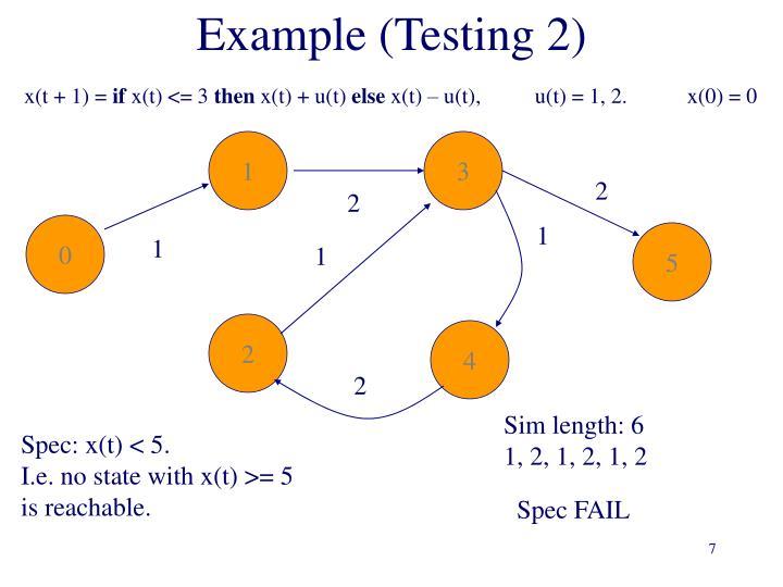Example (Testing 2)
