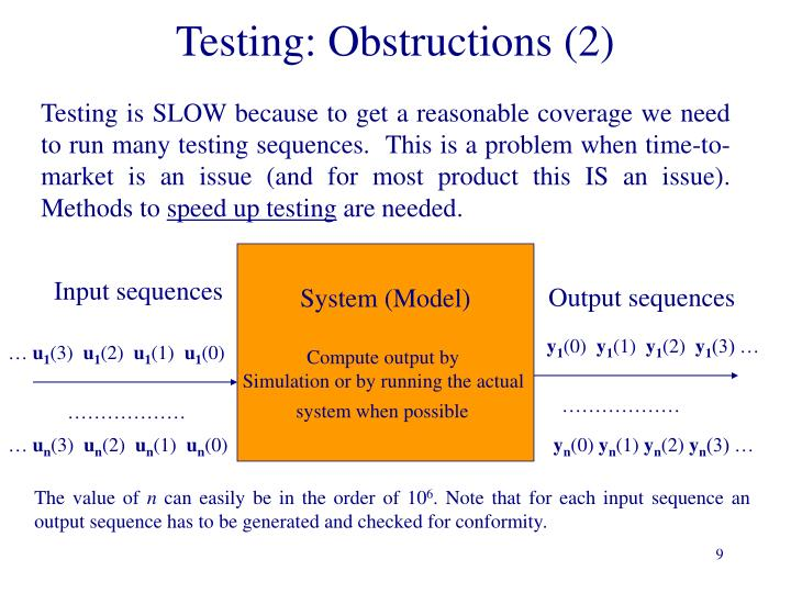 Testing: Obstructions (2)