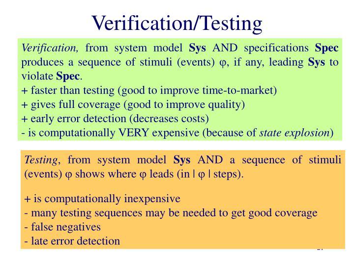 Verification/Testing