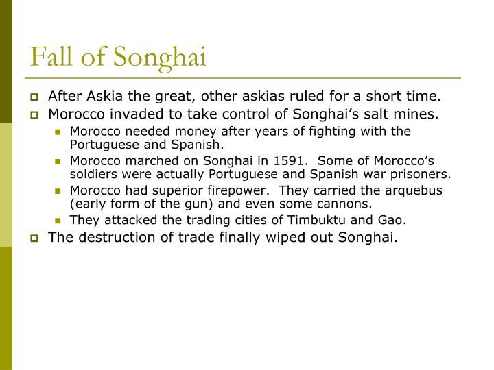 Fall of Songhai