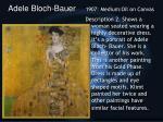 adele bloch bauer 1907 medium oil on canvas