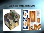 objects with klimt art