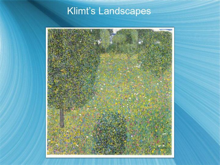 Klimt's Landscapes