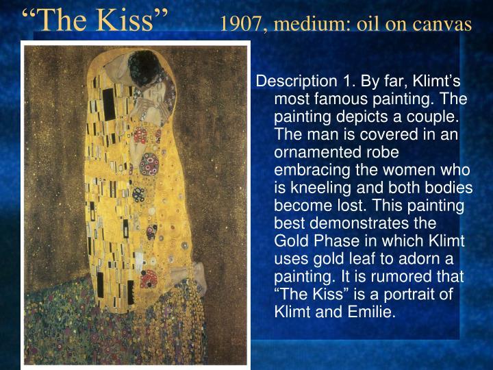 The kiss 1907 medium oil on canvas