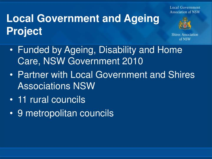 Local Government and Ageing Project