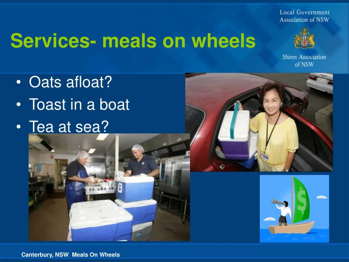 Canterbury, NSW  Meals On Wheels