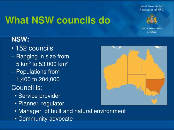 What NSW councils do