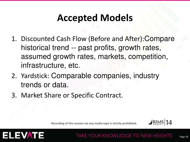 Accepted Models