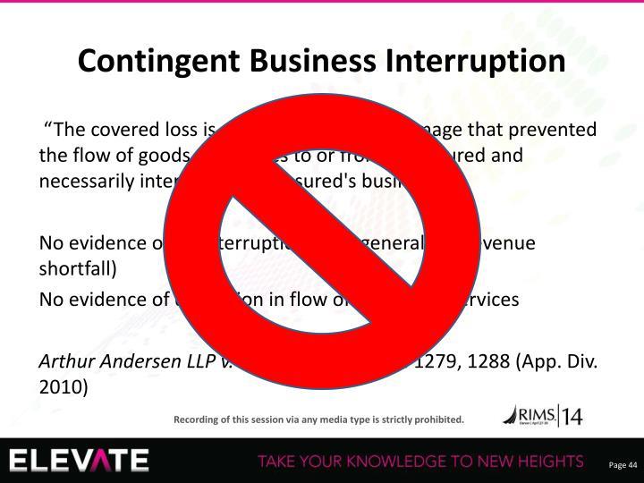 Contingent Business Interruption