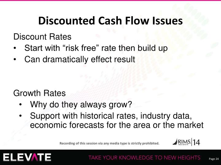 Discounted Cash Flow Issues