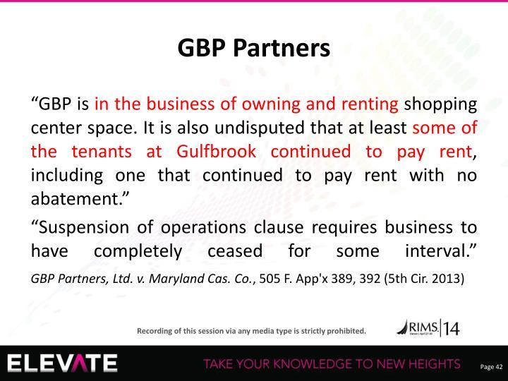 GBP Partners
