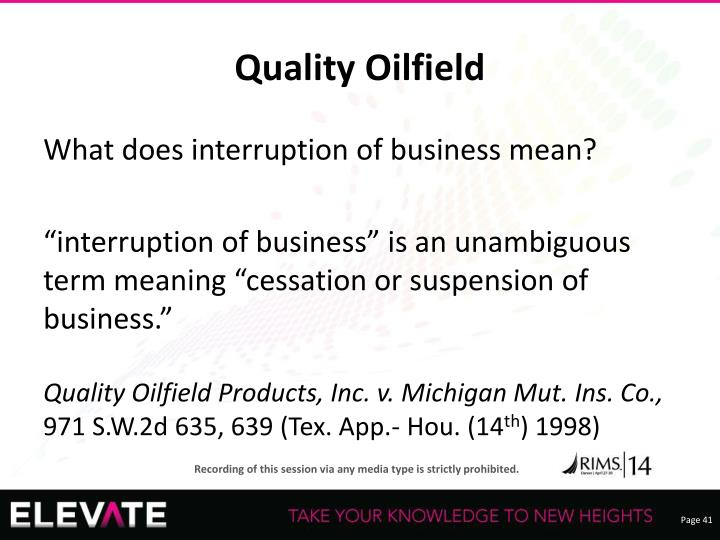 Quality Oilfield