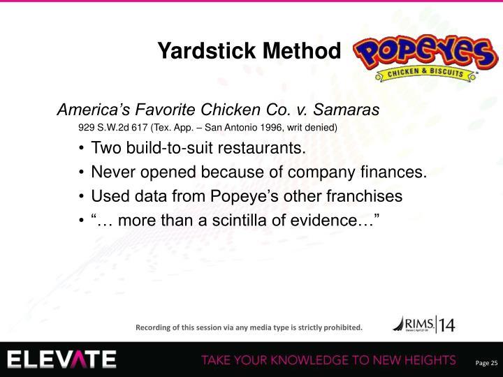 Yardstick Method