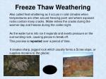freeze thaw weathering