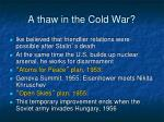 a thaw in the cold war