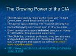 the growing power of the cia