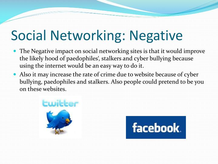 negative impacts of social networking According to negative impact of social networking sites on job applicants, since the current economic state of the united states is not good, seats for job are extremely competitive and recruiters always want to gather as much information about candidates as they can.