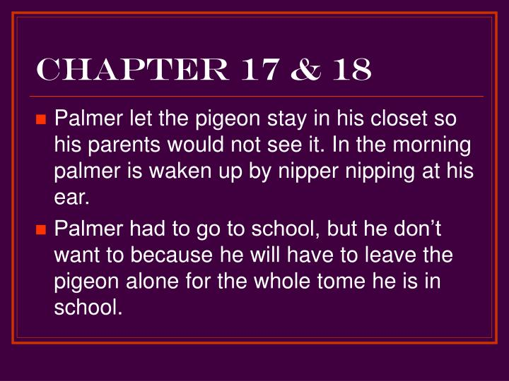 Chapter 17 & 18
