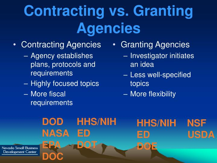 Contracting Agencies