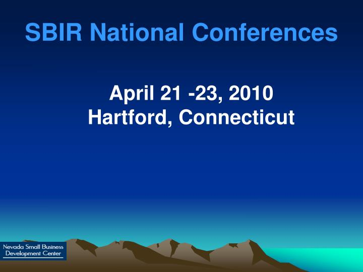 SBIR National Conferences