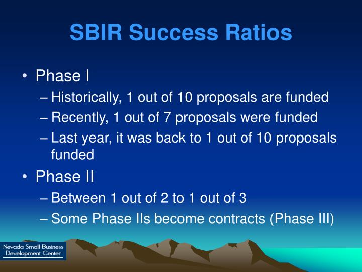 SBIR Success Ratios