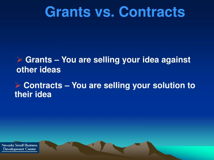 Grants vs. Contracts