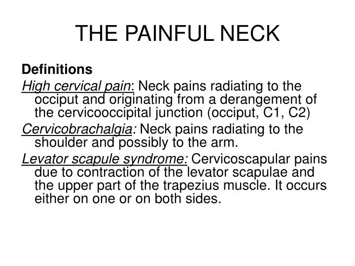 the painful neck n.