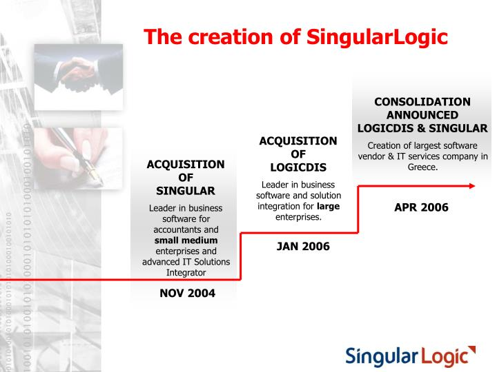 The creation of singularlogic