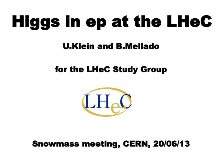 higgs in ep at the lhec