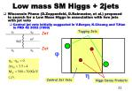 low mass sm higgs 2jets